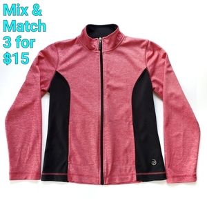 Be Inspired Zip up Active Jacket Pink Black Small